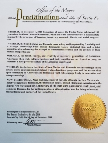 Proclamation - City of Santa Fe