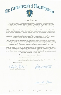 Proclamation - Massachusetts