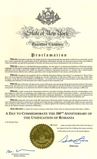 Proclamation - New York