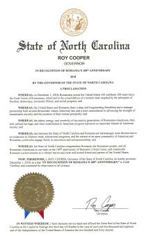 Proclamation - North Carolina